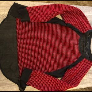 Sanctuary Black & Red Sweater